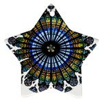 Rose Window Strasbourg Cathedral Star Ornament (Two Sides)  Back