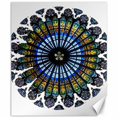 Rose Window Strasbourg Cathedral Canvas 8  x 10