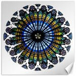 Rose Window Strasbourg Cathedral Canvas 12  x 12   12 x12 Canvas - 1