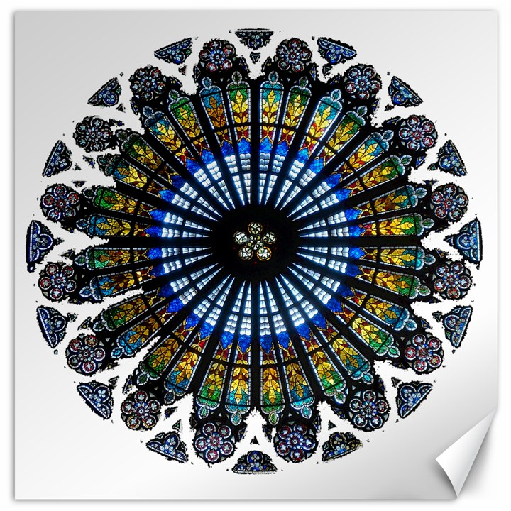 Rose Window Strasbourg Cathedral Canvas 12  x 12