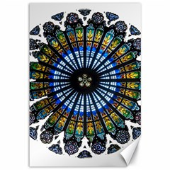 Rose Window Strasbourg Cathedral Canvas 12  x 18
