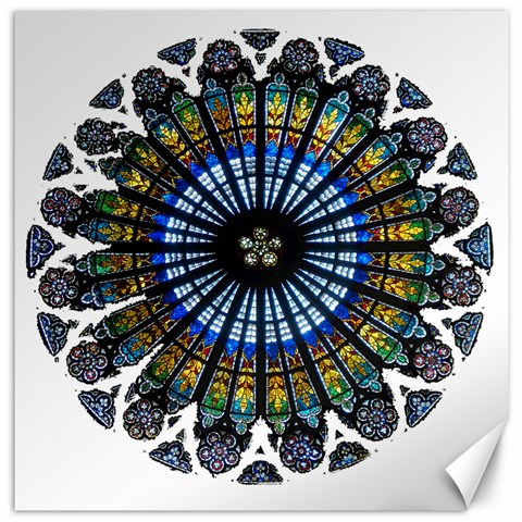 Rose Window Strasbourg Cathedral Canvas 16  x 16