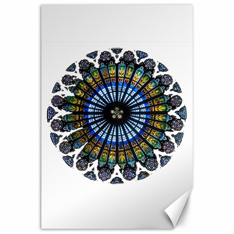 Rose Window Strasbourg Cathedral Canvas 20  x 30