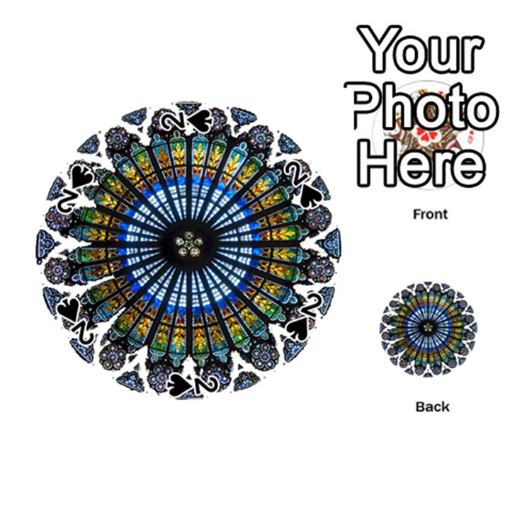 Rose Window Strasbourg Cathedral Playing Cards 54 (Round)