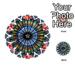Rose Window Strasbourg Cathedral Playing Cards 54 (Round)  Front - Heart6