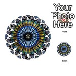 Rose Window Strasbourg Cathedral Playing Cards 54 (Round)  Front - Spade4