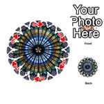 Rose Window Strasbourg Cathedral Playing Cards 54 (Round)  Front - Heart9