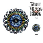 Rose Window Strasbourg Cathedral Playing Cards 54 (Round)  Front - Spade6