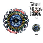 Rose Window Strasbourg Cathedral Playing Cards 54 (Round)  Front - Joker2