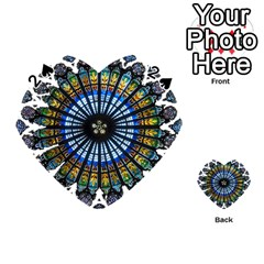Rose Window Strasbourg Cathedral Playing Cards 54 (Heart)