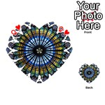 Rose Window Strasbourg Cathedral Playing Cards 54 (Heart)  Front - HeartQ