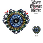 Rose Window Strasbourg Cathedral Playing Cards 54 (Heart)  Front - Diamond7