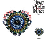 Rose Window Strasbourg Cathedral Playing Cards 54 (Heart)  Front - Joker2