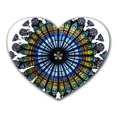 Rose Window Strasbourg Cathedral Heart Mousepads