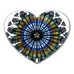 Rose Window Strasbourg Cathedral Heart Mousepads Front