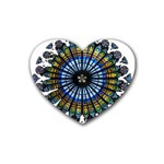 Rose Window Strasbourg Cathedral Rubber Coaster (Heart)  Front