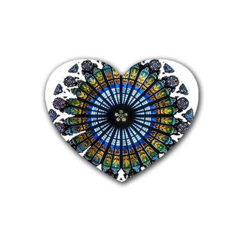 Rose Window Strasbourg Cathedral Heart Coaster (4 pack)