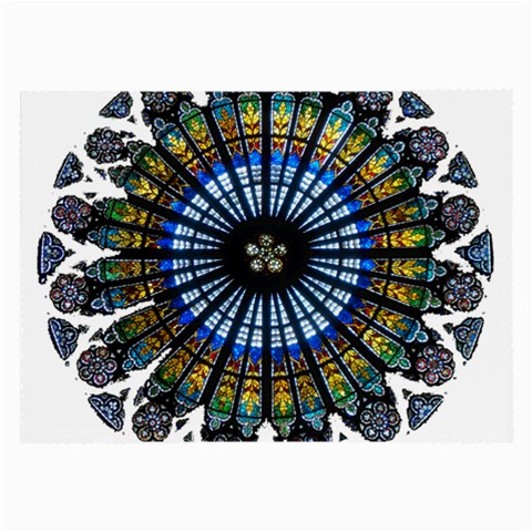 Rose Window Strasbourg Cathedral Large Glasses Cloth (2-Side)