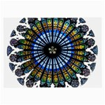 Rose Window Strasbourg Cathedral Large Glasses Cloth (2-Side) Front