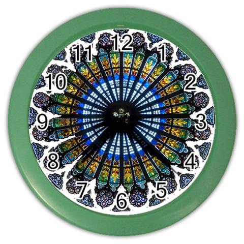 Rose Window Strasbourg Cathedral Color Wall Clocks