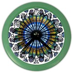 Rose Window Strasbourg Cathedral Color Wall Clocks Front