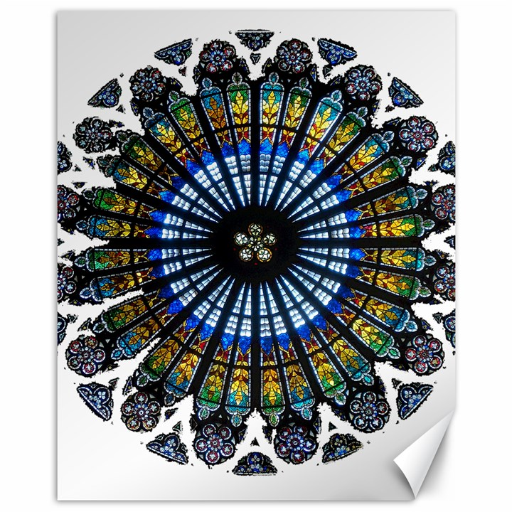 Rose Window Strasbourg Cathedral Canvas 11  x 14