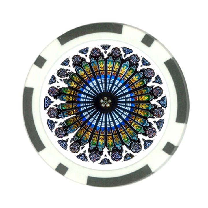 Rose Window Strasbourg Cathedral Poker Chip Card Guards