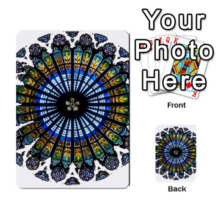 Rose Window Strasbourg Cathedral Multi-purpose Cards (Rectangle)