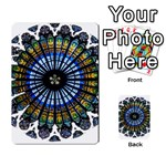 Rose Window Strasbourg Cathedral Multi-purpose Cards (Rectangle)  Back 32