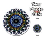 Rose Window Strasbourg Cathedral Multi-purpose Cards (Round)  Back 25