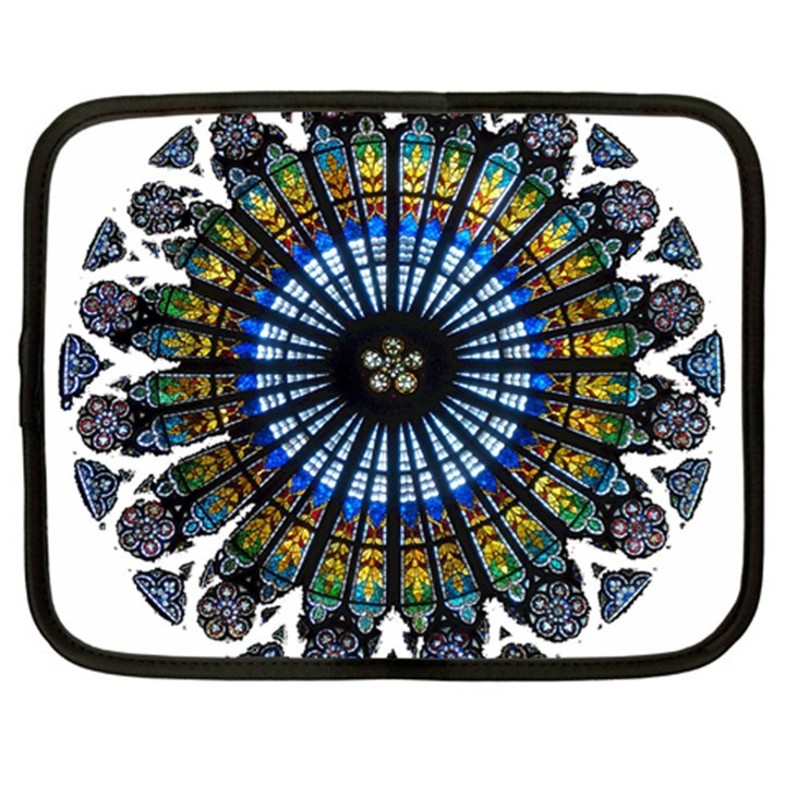 Rose Window Strasbourg Cathedral Netbook Case (Large)