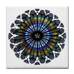 Rose Window Strasbourg Cathedral Face Towel