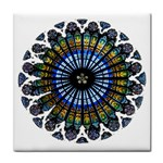 Rose Window Strasbourg Cathedral Face Towel Front