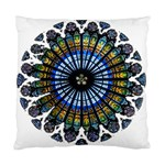 Rose Window Strasbourg Cathedral Standard Cushion Case (Two Sides) Back