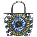 Rose Window Strasbourg Cathedral Bucket Bags Front