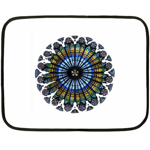 Rose Window Strasbourg Cathedral Fleece Blanket (Mini)