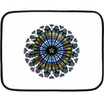 Rose Window Strasbourg Cathedral Fleece Blanket (Mini) 35 x27 Blanket