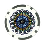Rose Window Strasbourg Cathedral Poker Chip Card Guards (10 pack)  Back