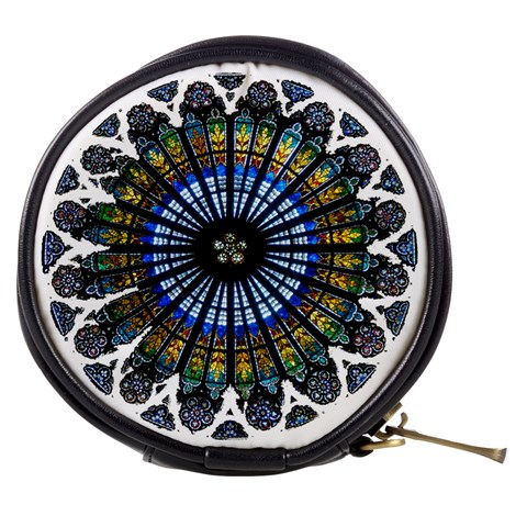 Rose Window Strasbourg Cathedral Mini Makeup Bags
