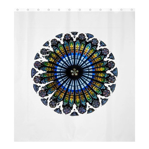 Rose Window Strasbourg Cathedral Shower Curtain 66  x 72  (Large)