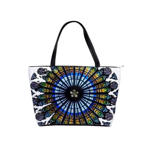 Rose Window Strasbourg Cathedral Shoulder Handbags