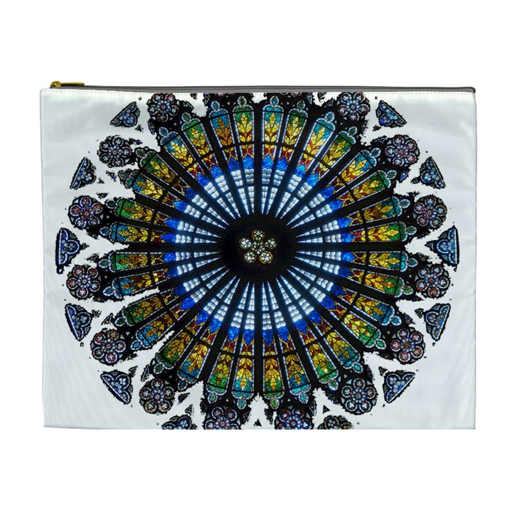 Rose Window Strasbourg Cathedral Cosmetic Bag (XL)