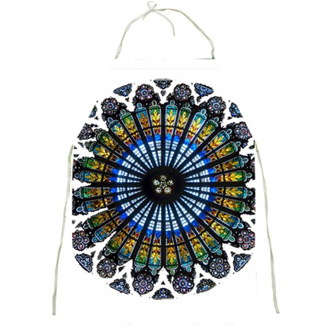 Rose Window Strasbourg Cathedral Full Print Aprons