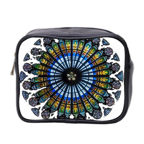 Rose Window Strasbourg Cathedral Mini Toiletries Bag 2-Side