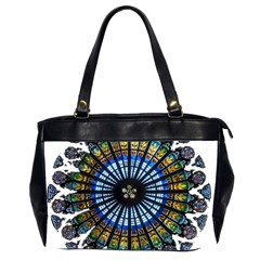Rose Window Strasbourg Cathedral Office Handbags (2 Sides)