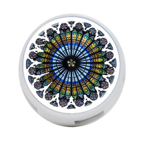 Rose Window Strasbourg Cathedral 4-Port USB Hub (Two Sides)