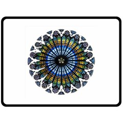 Rose Window Strasbourg Cathedral Fleece Blanket (Large)
