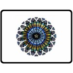 Rose Window Strasbourg Cathedral Fleece Blanket (Large)  80 x60 Blanket Front
