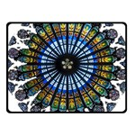 Rose Window Strasbourg Cathedral Fleece Blanket (Small) 50 x40 Blanket Front