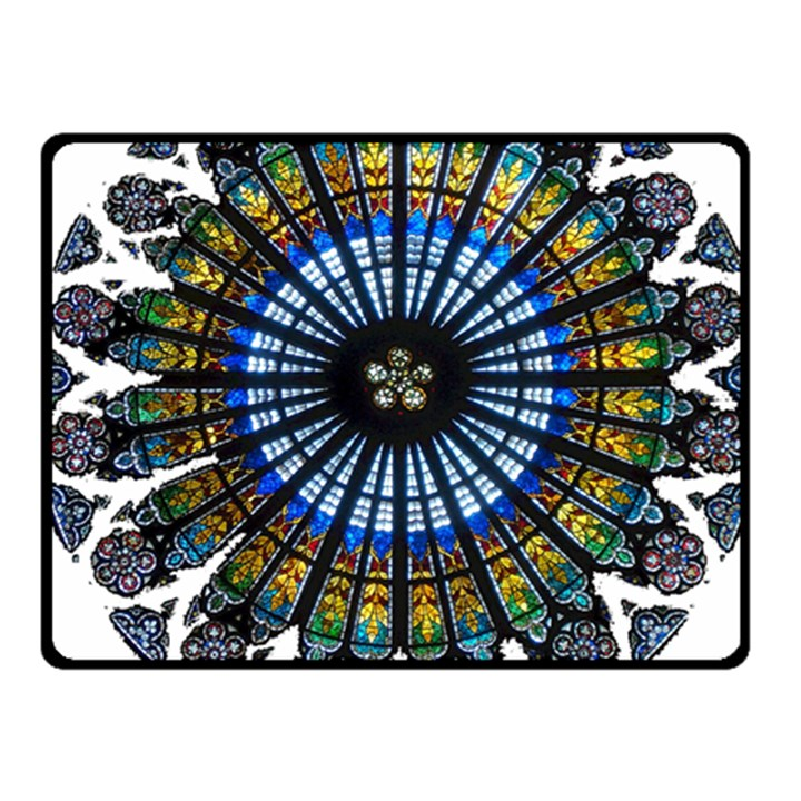 Rose Window Strasbourg Cathedral Fleece Blanket (Small)